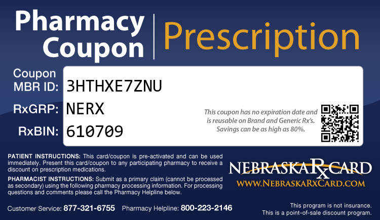 Nebraska Rx Card - Free Prescription Drug Coupon Card